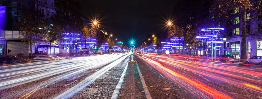 Champs-Élysées Lights - Paris, France